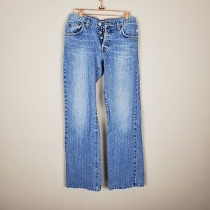 LUCKY Brand Easy Glimmer Buttonfly Jeans sz2/26